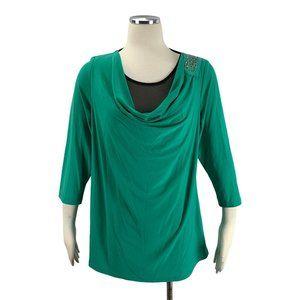 NWT Women's Picadilly Fashion Amazon Green Blouse